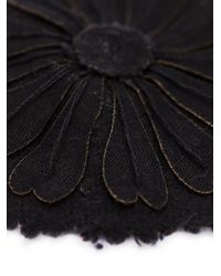Ann Demeulemeester | Black Set Of Two Flower Pins | Lyst