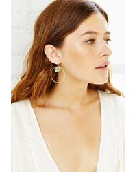 Urban Outfitters - Metallic Roman Bath Crystal Hoop Earring - Lyst