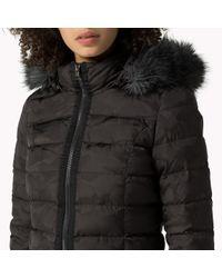 Tommy Hilfiger | Black Down Jacquard Jacket | Lyst