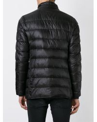 Herno - Black Buttoned Padded Jacket for Men - Lyst