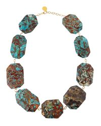 Devon Leigh | Blue Chunky Ocean Jasper Station Necklace | Lyst