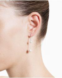 Asherali Knopfer - White Interchangeable 18K Gold And Pearl Bar Earring - Lyst