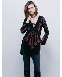 Free People | Black Charlie Tunic | Lyst