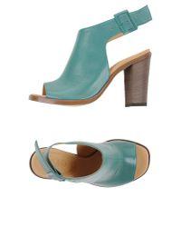 MM6 by Maison Martin Margiela - Green Sandals - Lyst
