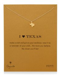 Dogeared - Metallic I Heart Texas Pendant Necklace - Lyst