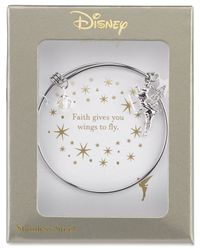 Disney | Metallic Tinker Bell Charm Bracelet In Stainless Steel | Lyst