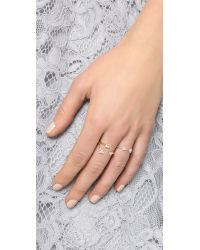 EF Collection - Metallic Open Diamond Triple Trio Ring - Lyst