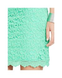 Ralph Lauren   Green Lace Cap-sleeved Dress   Lyst