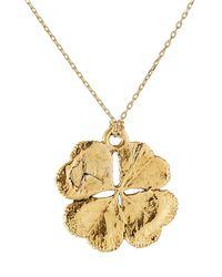 Aurelie Bidermann - Metallic Aurélie Bidermann Fine Jewelry 18kt Gold Mini Clover Necklace - Lyst