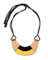 Marni - Natural Contrasting Panel Necklace - Lyst