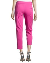 Natori - Pink Batu Slim Ankle Pants - Lyst