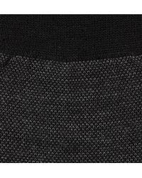 Pantherella - Black Beaumont Birdseye-knit Merino Wool-blend Socks for Men - Lyst