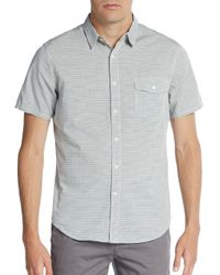 Life After Denim | Gray New Wave Striped Cotton Sportshirt for Men | Lyst