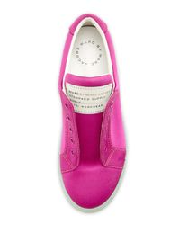 Marc By Marc Jacobs - Pink Satin Logo Laceless Sneaker Hot Fuchsia - Lyst