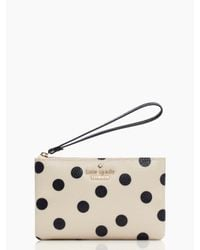 kate spade new york - Black Cedar Street Dot Bee Wristlet - Lyst