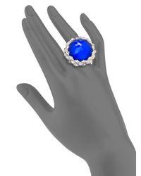 Stephen Webster - Blue Agate Clear Quartz Sterling Silver Haze Large Dome Ring - Lyst