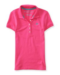 Aéropostale | Pink A87 Piqué Polo for Men | Lyst