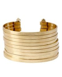 Kenneth Cole | Metallic Multi Row Wire Cuff Bracelet | Lyst