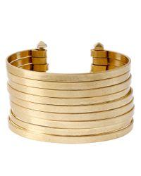 Kenneth Cole | Metallic Multi Row Wire Cuff Bracelet | Lyst