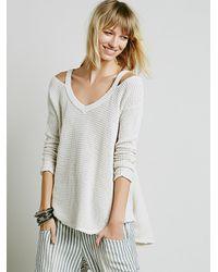 Free People - Natural Moonshine V-neck Pullover - Lyst