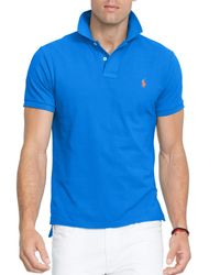 Ralph Lauren - Blue Polo Classic-fit Mesh Polo Shirt for Men - Lyst