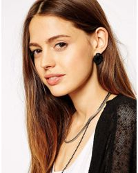 ASOS | Black Knot Stud Earrings | Lyst