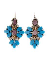 G-Lish - Blue  Lavender Earrings - Lyst