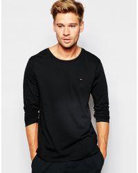 Tommy Hilfiger - Black Regular Fit Icon Cotton T-shirt for Men - Lyst