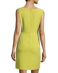 Halston | Green Sleeveless Front-Drape Dress | Lyst
