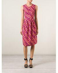 Erika Cavallini Semi Couture - Multicolor Sleeveless Printed Dress - Lyst