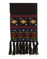 Billabong | Black Aztec Scarf for Men | Lyst