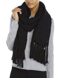 Vince Camuto | Black Drop Stitch Scarf | Lyst