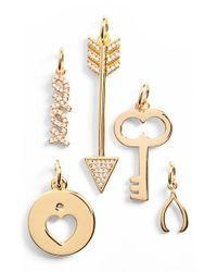 BaubleBar | Metallic 'key To My Heart' Charms | Lyst