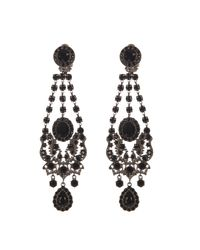 Givenchy - Black Victorian-Style Chandelier Earrings - Lyst