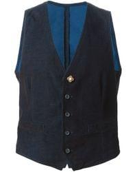 Lardini | Blue Corduroy Waistcoat for Men | Lyst