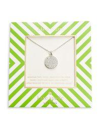 Kate Spade | Metallic Pave Pendant Necklace | Lyst