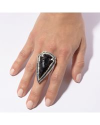 Pamela Love | Black Pave Arrowhead Ring | Lyst
