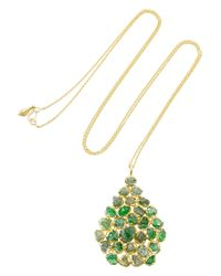 Pippa Small | Metallic Labradorite & Yellow-Gold Necklace | Lyst