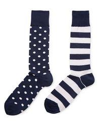 Polo Ralph Lauren - Blue Two Pack Of Cotton-Blend Socks for Men - Lyst