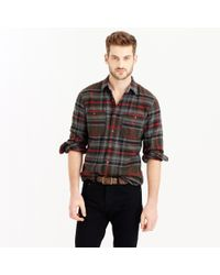 J.Crew | Green Wallace & Barnes Heavyweight Flannel In Harvey Plaid for Men | Lyst