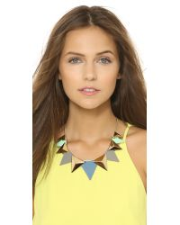 Adia Kibur - Amy Necklace - Grey/Blue - Lyst
