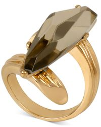 Robert Lee Morris | Gray Bronze-tone Stone Wrap Ring | Lyst