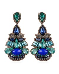Suzanna Dai | Khepri Drop Earrings, Blue/green | Lyst