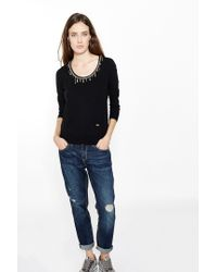 Liu Jo | Black 'charms' Jumper | Lyst