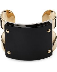 Marni - Black Gold-plated Horn Cuff - For Women - Lyst