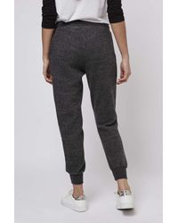 TOPSHOP | Gray Petite Brushed Joggers | Lyst
