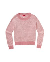 HUGO | Red Cotton Sweater: 'sollee' | Lyst