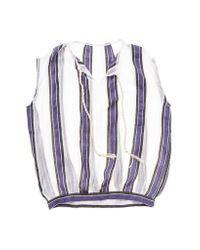 lemlem - Purple Biftu Vertical Stripe Blouse - Lyst