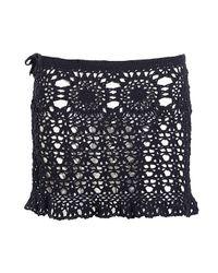 Beauty & The Beach - Black Ava Crochet Skirt - Lyst