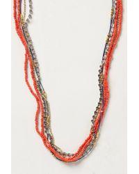 Anthropologie | Red Tassel Swing Necklace | Lyst